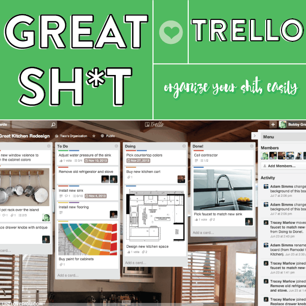 Great Shit Trello Screenshot