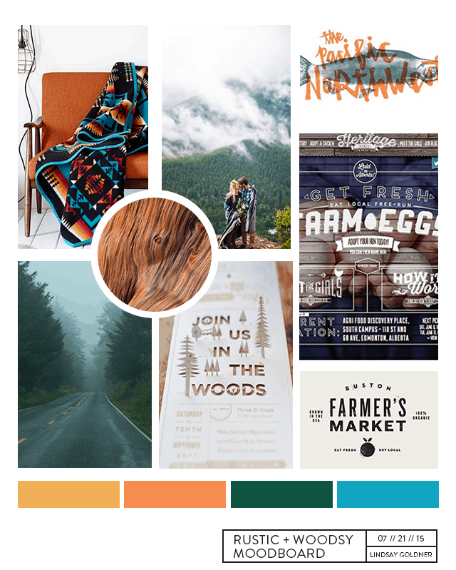 Rustic Pacific Northwest PNW Moodboard | Lindsay Goldner @ No Fonts Given Co