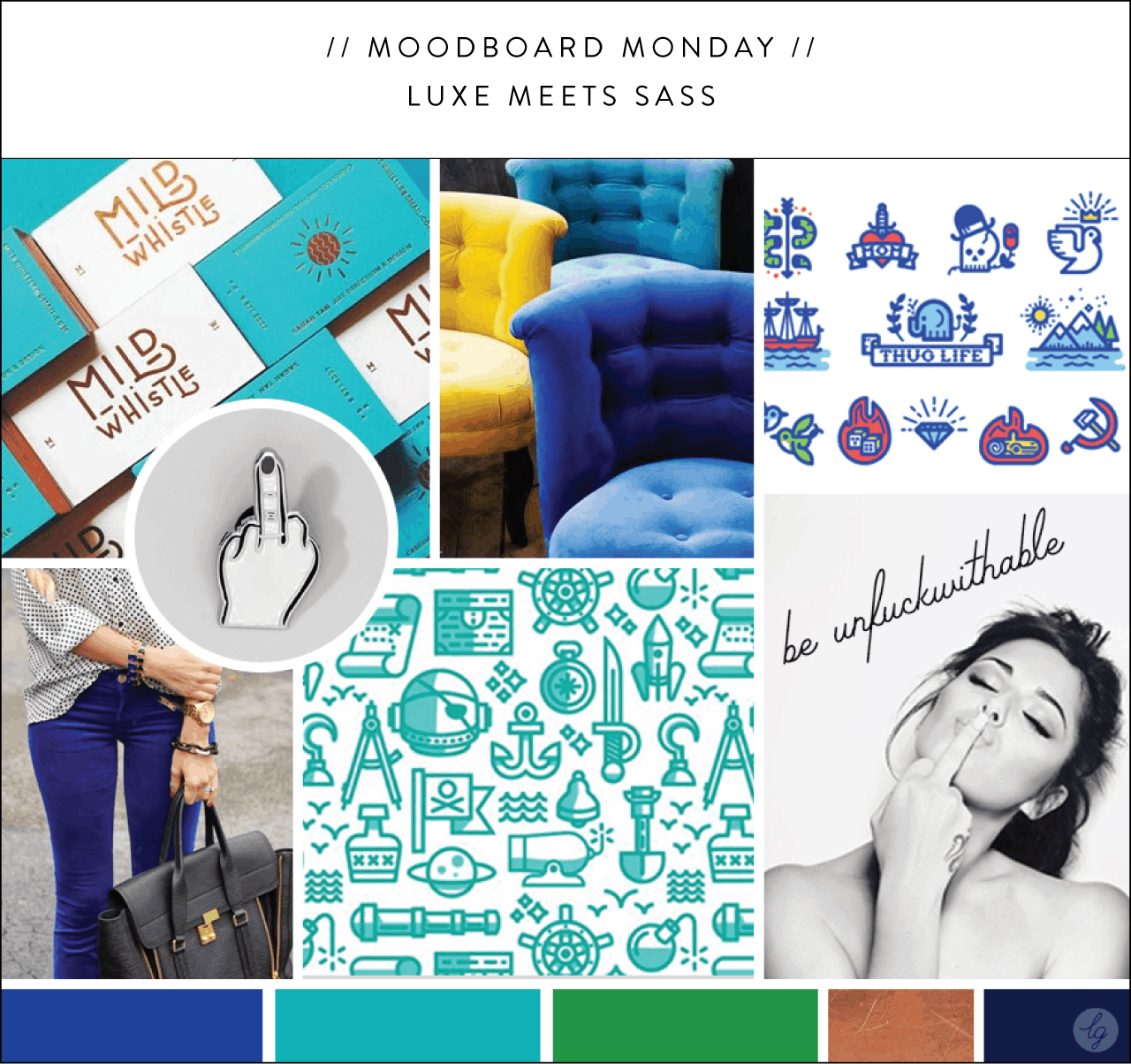 Luxe Meets Sass Moodboard   Lindsay Goldner - No Fonts Given Co
