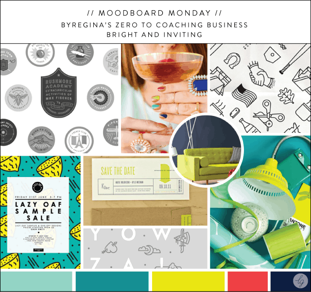 ByRegina Zero to Coaching Moodboard | Lindsay Goldner @ No Fonts Given Co