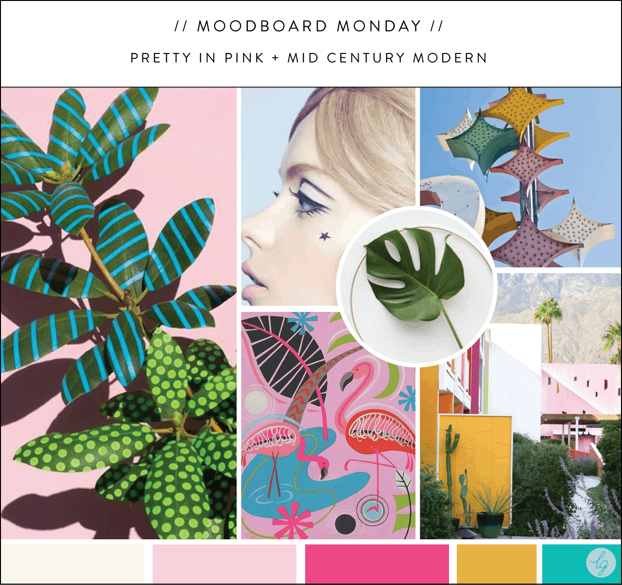 Pretty in Pink + MCM Moodboard | Lindsay Goldner