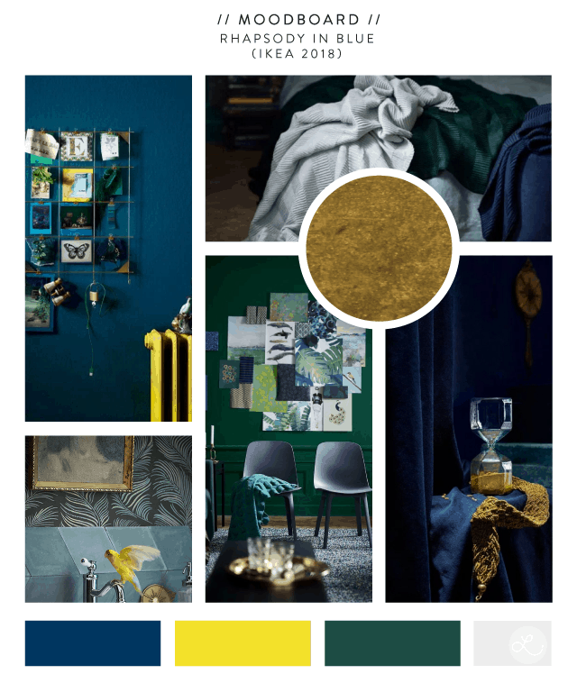 Moodboard: Rhapsody in Blue (Ikea 2018) by Lindsay Goldner Creative