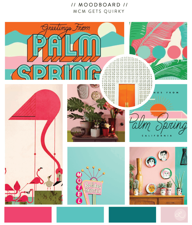 Midcentury Modern Gets Quirky   No Fonts Given Co