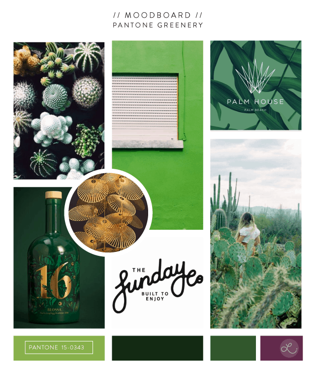 Pantone Greenery Moodboard  | No Fonts Given Co