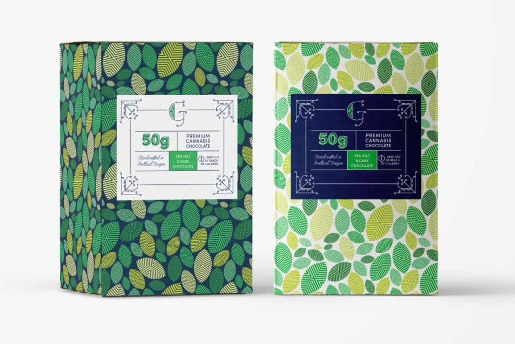 Green Cannabis Packaging Design Example 2 | Lindsay Goldner - No Fonts Given Co