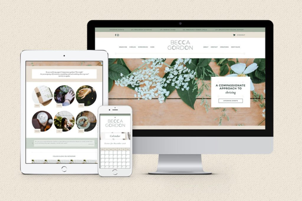 Becca Gordon Website Design | Lindsay Goldner @ No Fonts Given Co