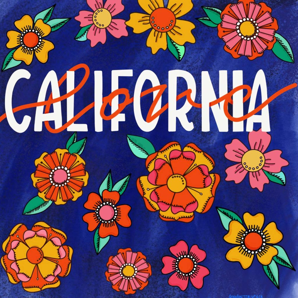 California Love social graphic | Lindsay Goldner - No Fonts Given Co
