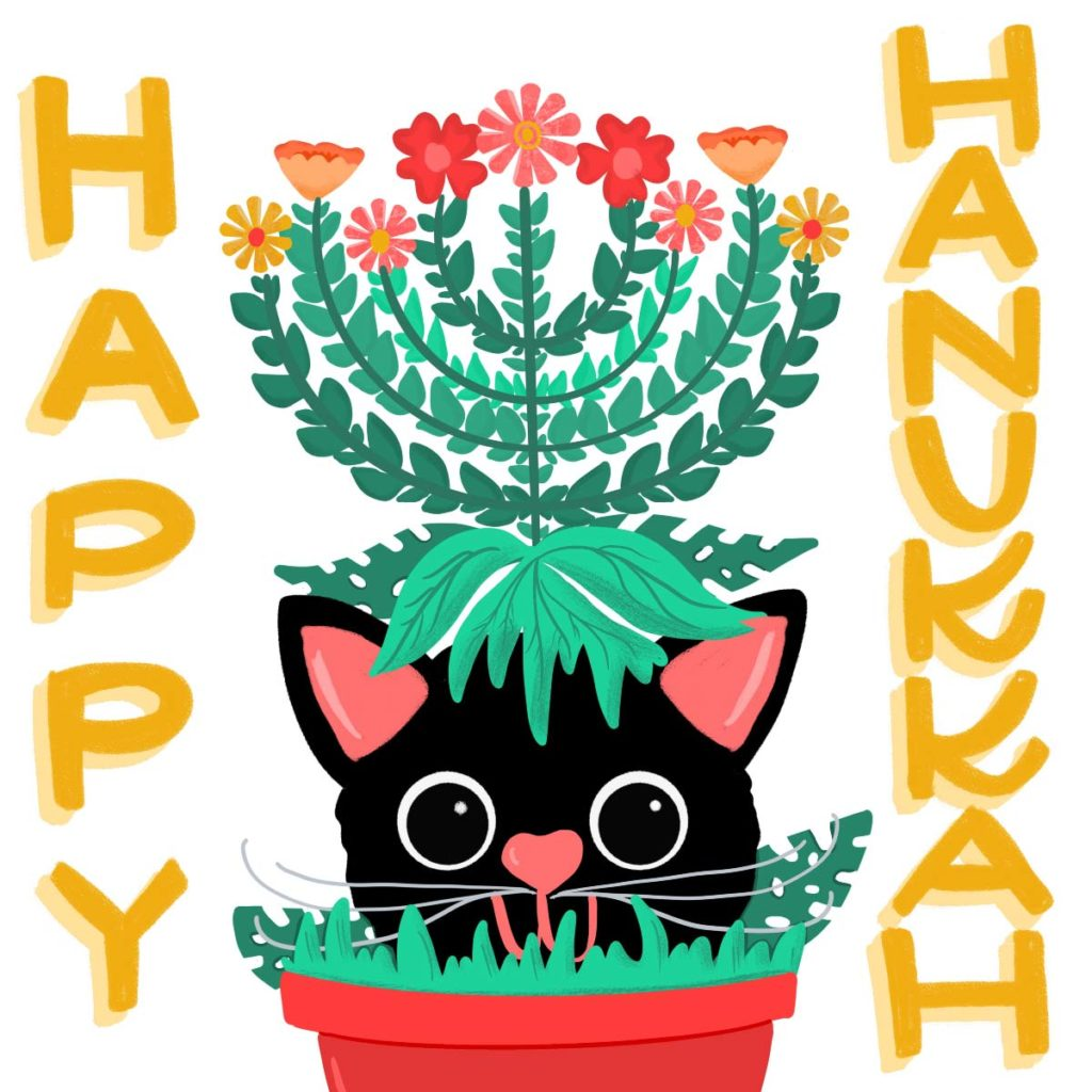 Hanukkah Social graphic | Lindsay Goldner - No Fonts Given Co