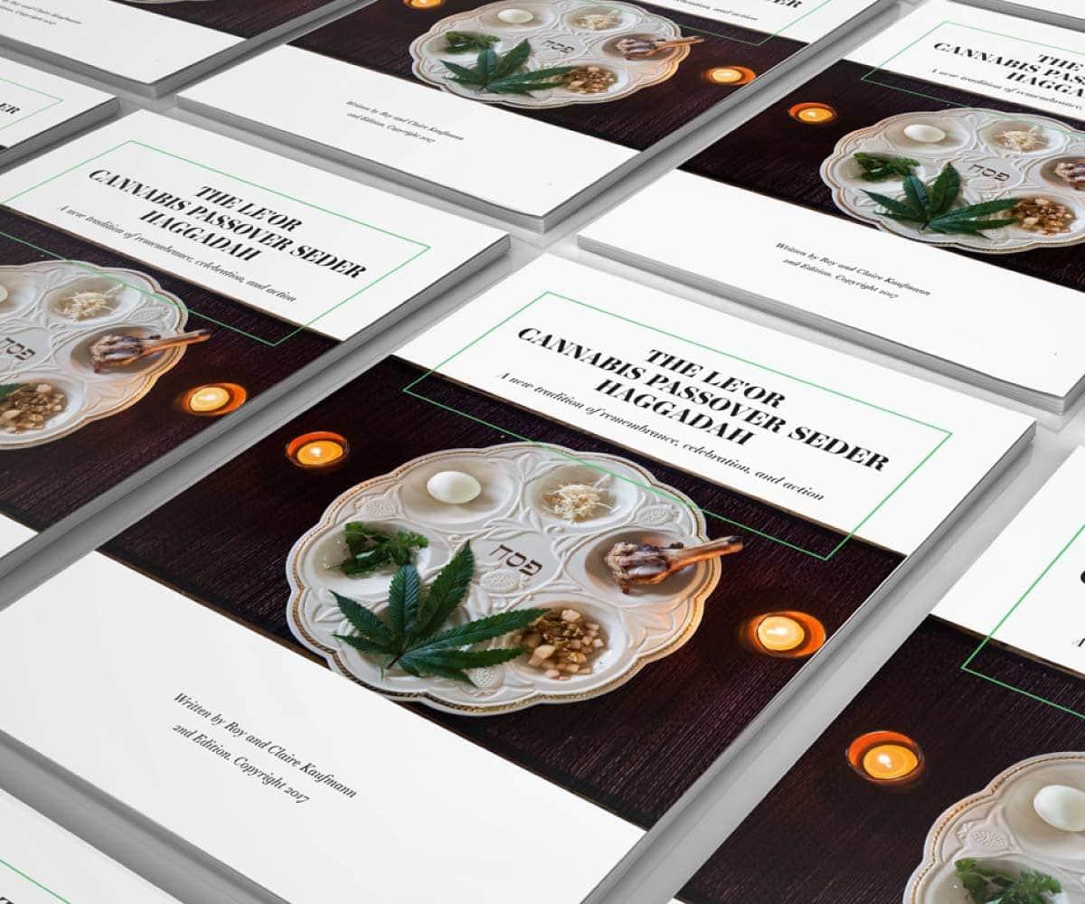 Le'Or Cannabis Seder Hagaddah Cover   Lindsay Goldner - No Fonts Given Co