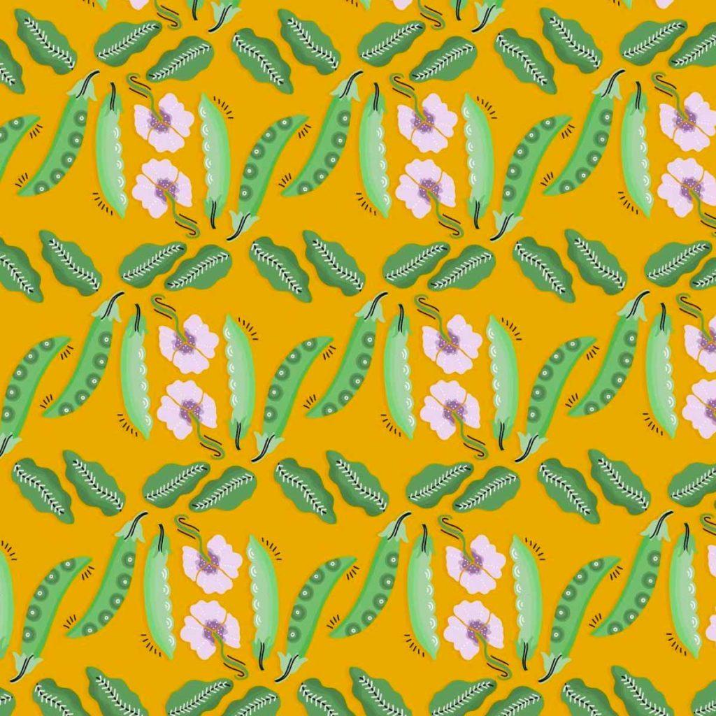 Peas Illustration Pattern   Lindsay Goldner - No Fonts Given Co