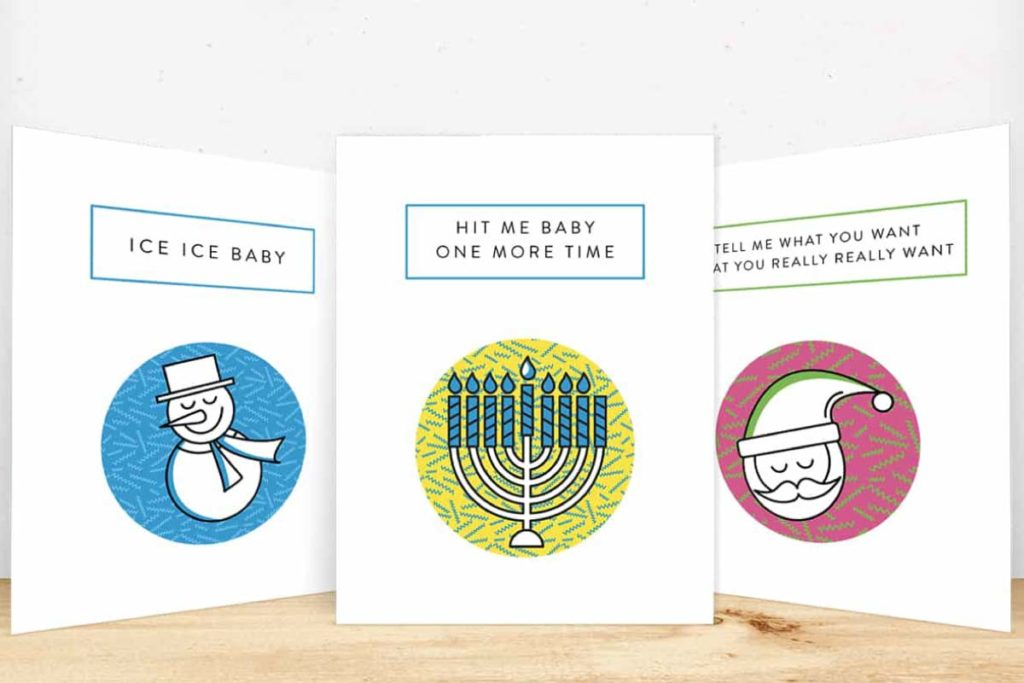 Pop Fizz Sparkle Holiday Cards 1 | Lindsay Goldner - No Fonts Given Co