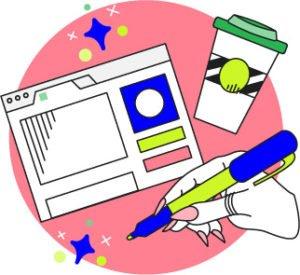 Blog Icons/Spot Illustration   Lindsay Goldner - No Fonts Given Co
