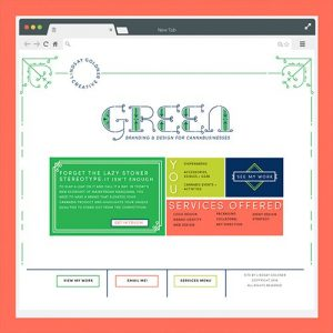 Green Cannabis Branding and Web Design | Lindsay Goldner - No Fonts Given Co