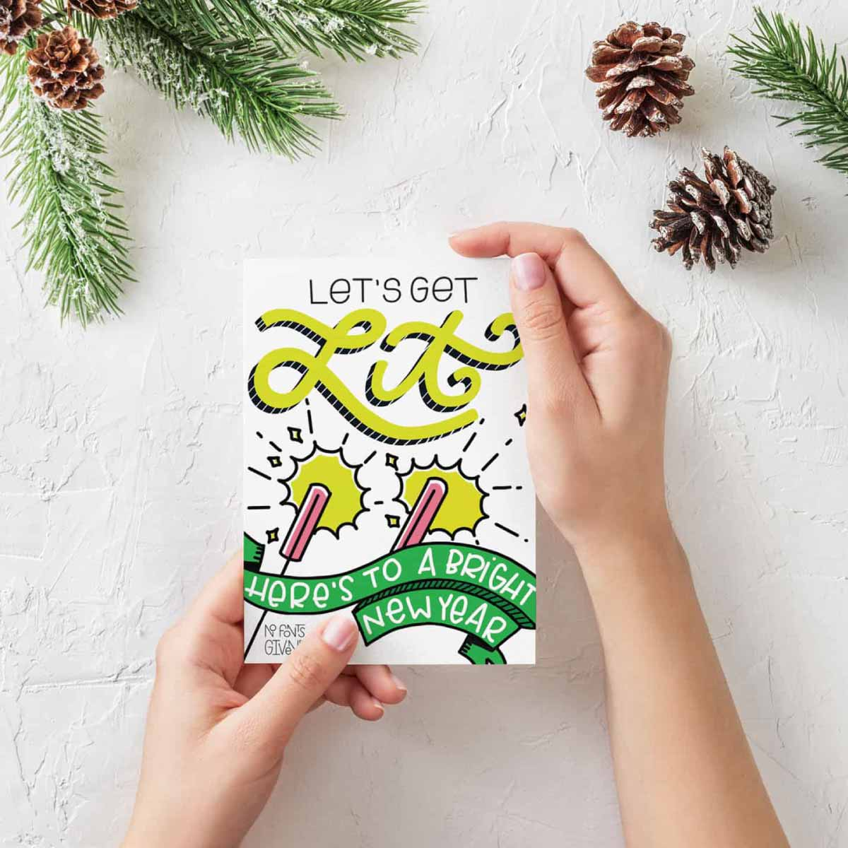 Holiday Card Icon Design   Lindsay Goldner - No Fonts Given Co