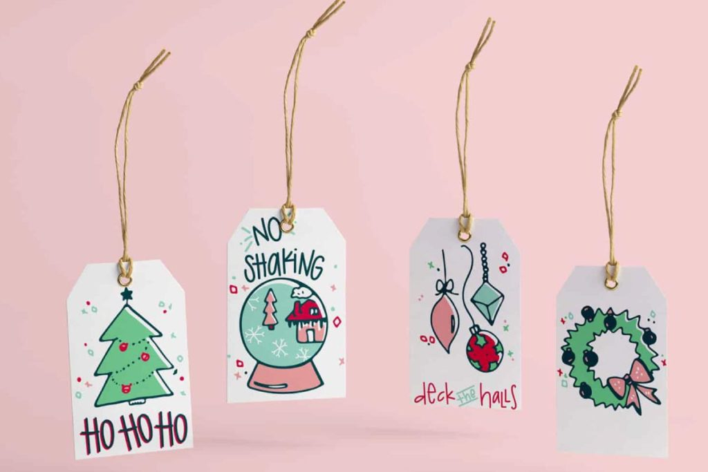 Holiday Gift Tag Icon Design | Lindsay Goldner - No Fonts Given Co