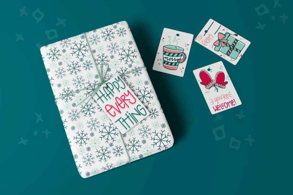 Holiday Gift Tag and Wrapping Paper Icon and Pattern Design | Lindsay Goldner - No Fonts Given Co