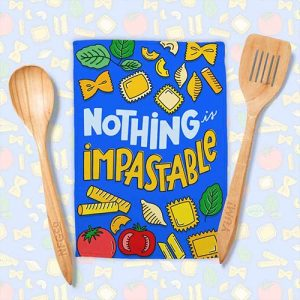 Nothing Is Impastable Pattern – Tea Towel Design | Lindsay Goldner - No Fonts Given Co
