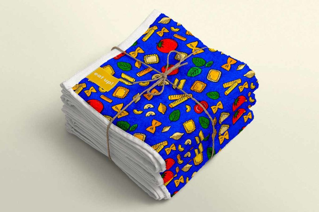 Nothing Is Impastable Pattern –Towel Stack   Lindsay Goldner - No Fonts Given Co