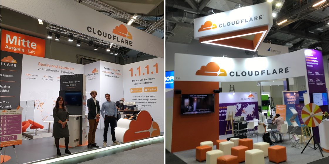 Cloudflare Booth Design – No Fonts Given