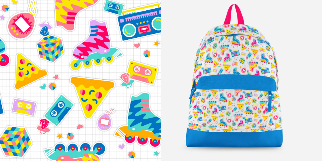 90s Skate Party Pattern and Product –No Fonts Given
