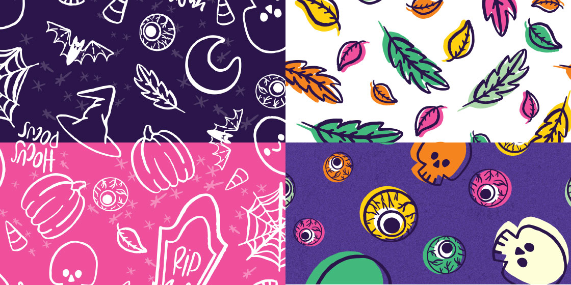 Halloween brights pattern set – No Fonts Given