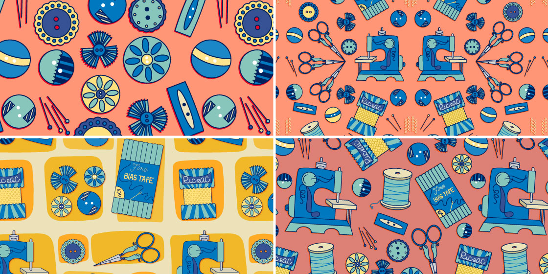 Retro sewing pattern series –No Fonts Given