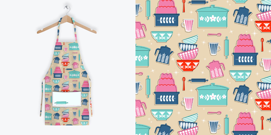 Pyrex Pattern + Apron – No Fonts Given